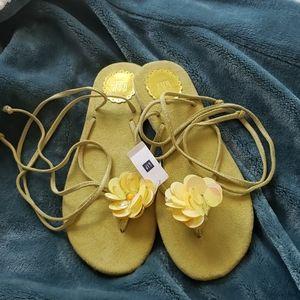Gap wrap sandals